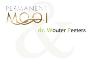 Dit is een logo van permanent mooi in combinatie met het logo van dr. Wouter Peeters, plastisch chirurg